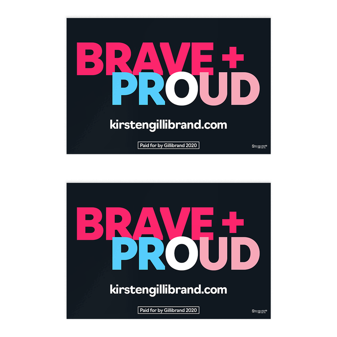 Brave + Proud: Trans Pride Sticker Pack