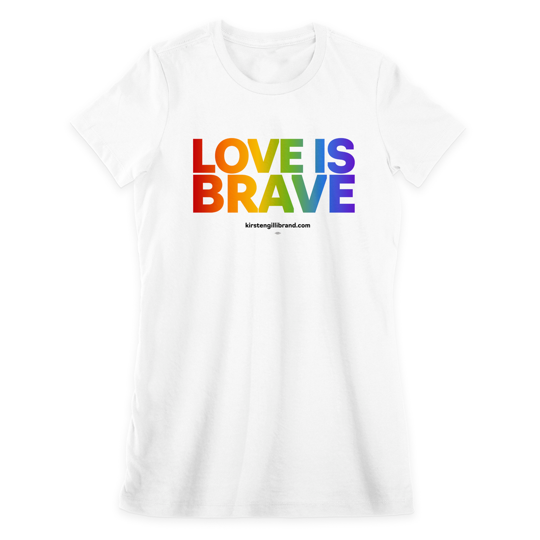 Love is Brave Fitted Tee
