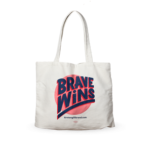 """Brave Wins"" Canvas Tote"