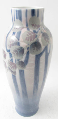 Under glazed vase by Rörstrand. H: 42cm/16