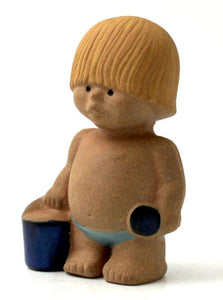 "Väst a Lisa Larson figurine in the series ""Children of the World"" by Gustavsberg. H: 13cm/5"