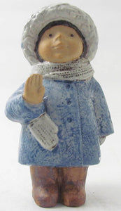 "Figurine ""Four years old"" by Lisa Larson. Studio produktion. H: 20cm/7"
