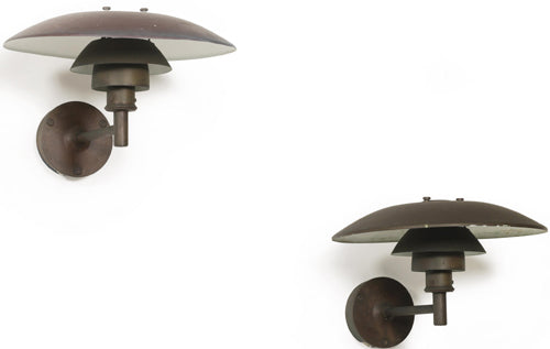PH outdoor wall lights in coppar by Louis Poulsen. Diam. 45cm/17