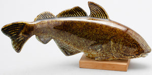 "Cod in the series ""Stim"" by Gustavsberg. L: 29cm/11"