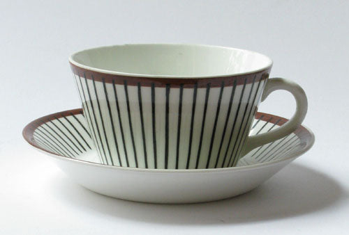 Coffee and teacup Spisa Ribb by Gustavsberg. First year of production 1955.