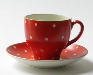 "Coffee cup ""Amanita red"" by Gefle."
