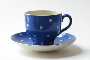 "Coffee cup ""Amanita blue"" by Gefle."