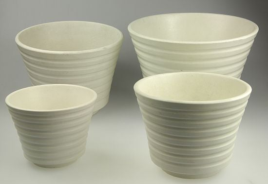 Carrara flower pots by Gustavsberg in different sizes.
