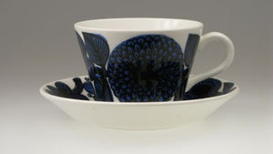 "Coffee and tea cups ""Blå Aster"" by Gustavsberg. First year of production 1972. Tea cups for the moment out of stock."