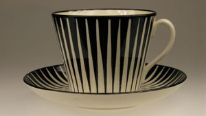 "Coffe and tea cups ""Zebra"" by Gefle. For the moment out of stock."