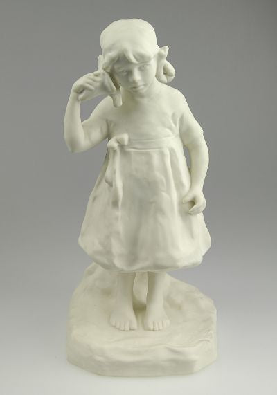 Parian figurine by Gustavsberg. H: 24