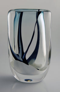 "Rare Kosta vase ""Winter"" by Vicke Linstrand. H: 18cm/7"