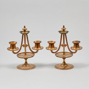 Paret ljusstakar i mässing från Gusum 21 cm höga. Pair of brass candle sticks by Gusum. H: 21cm/8,3""