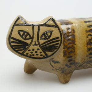 "Lisa Larson Katt för Gustavsberg i serien Stora Zoo, 1950-tal. 11,5cm hög och 33,5cm lång. Lisa Larson cat for Gustavsberg in the ""stora zoo"" series, 1950's. H: 11,5cm/4,5″ and L: 33,5cm/13,2″"