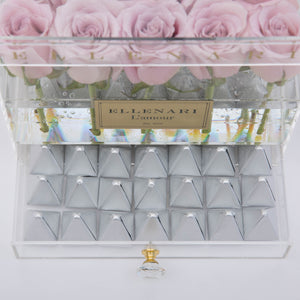 Chérie - 25 Roses in Acrylic Box with Drawer