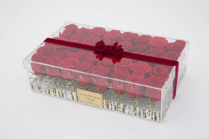 L'amour - 40 Roses in Acrylic Box