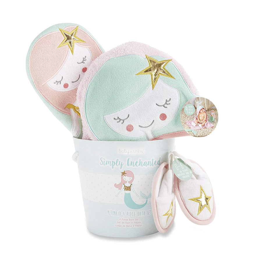 Enchanted Mermaid 4-Piece Bathtime Gift Set