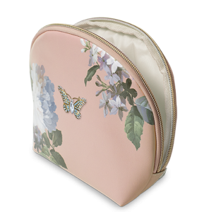 White Floral Brooch Faux Leather Bag