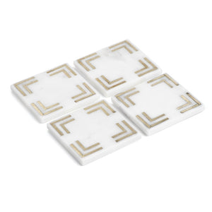 "Marmo Marble Square  4"" Coaster-Set of 4"