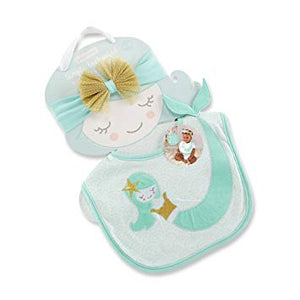 Enchanted Mermaid Bib & Head Band Gift Set