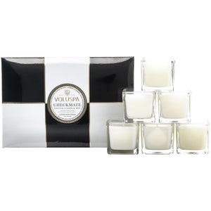 Voluspa Maison Checkmate 6 Votive Candle Gift Set