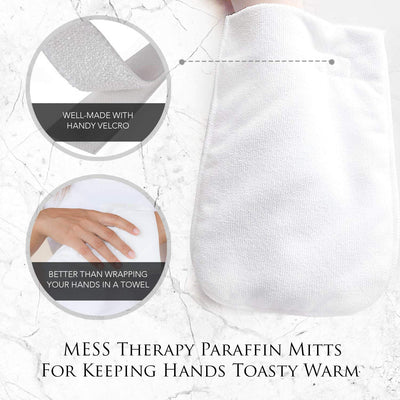 Therapy Paraffin Mitts for Keeping Hands Toasty Warm Thermal Wax Treatment/Professional Microfiber Soft Thick Plush Gloves for Insulating Retaining Heat/Terry Cloth Mittens, Any Hand Size 1 Pair