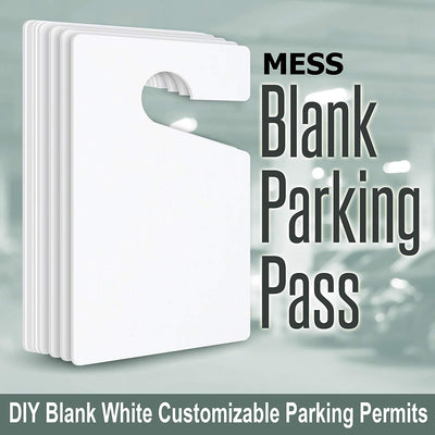 "Parking Hang Tag Blank White Customizable Parking Permits (100-Pack) 3"" x 5"""