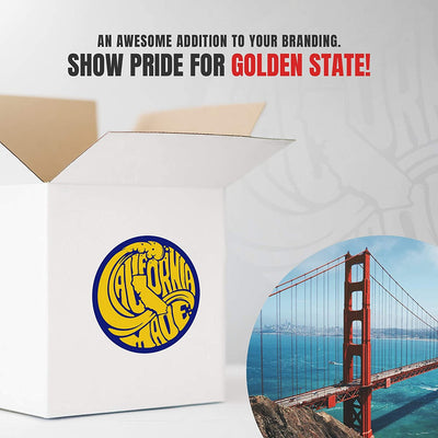 "Made in California State Pride Stickers (450/roll 1.5"" Circles) 3 Designs USA Stickers - Perfect for Business Owners Gifts, Packages, Products, and More by MESS"