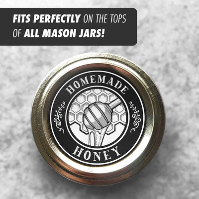 "Homemade Canning Dissolvable Labels For Mason Jars and More (2"" Circles 60-Pack)"