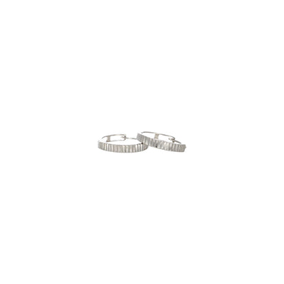 9k white gold slippers earrings /hoops