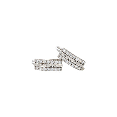 9k hoop earings /hoops/cubic zirconuim/huggies oval shape