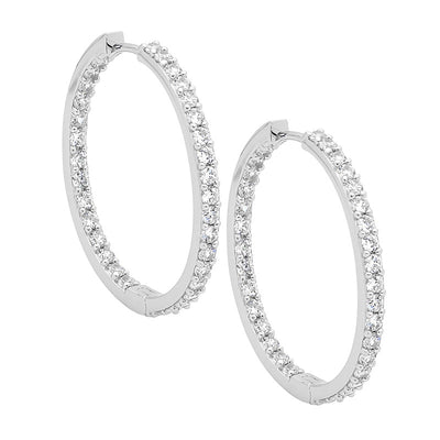 Ellani sterling silver hoop earrings/E183S