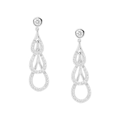 Ellani sterling silver drop earrings/E373