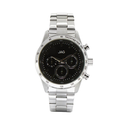J1960/ ALAIN BLACK DIAL STAINLESS STEEL B/LET WATCH