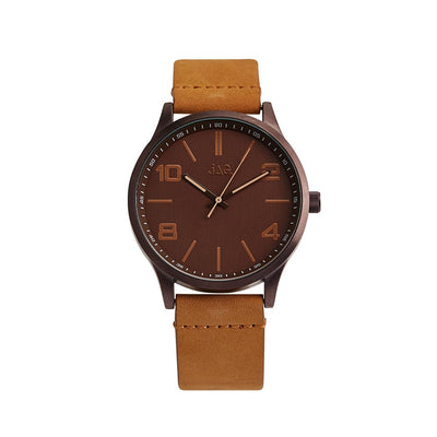J2011/ MITCHELL BROWN DIAL BROWN LEATHER STRAP
