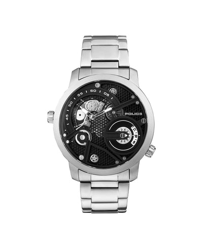 POLICE KINGSBRIDGE BLACK DIAL SS B/LET WATCH