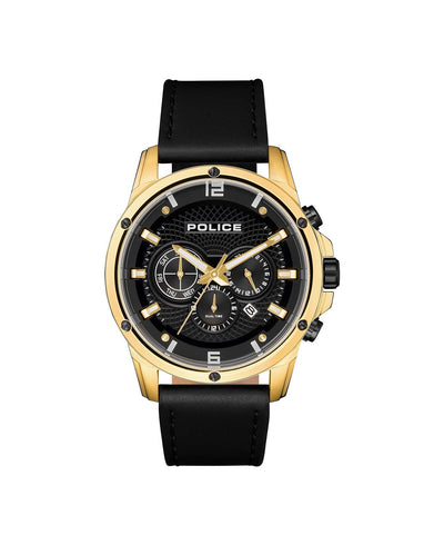 POLICE SHANDON BLACK DIAL BLACK STRAP WATCH