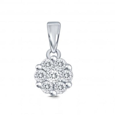 10KW Diamond Fashion Flower Pendant