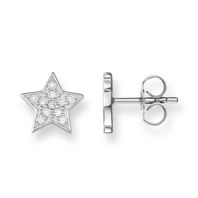 TH1868CZ/ Thomas Sabo Star Pave CZ Stud Earrings