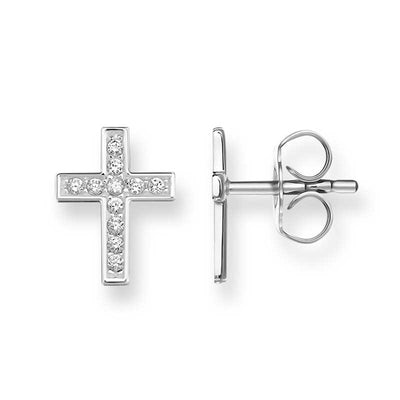 TH1880CZ/ Thomas Sabo Cross Pave CZ Stud Earrings