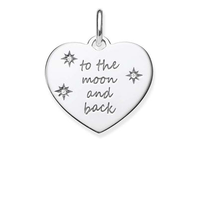 TLBPE0020/ Thomas Sabo Engravable CZ To The Moon & Back Pendant