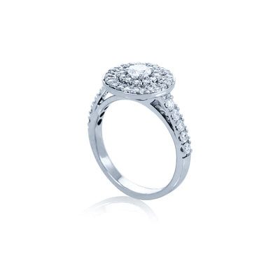 Verve 18K Engagement Ring with Wedding Band
