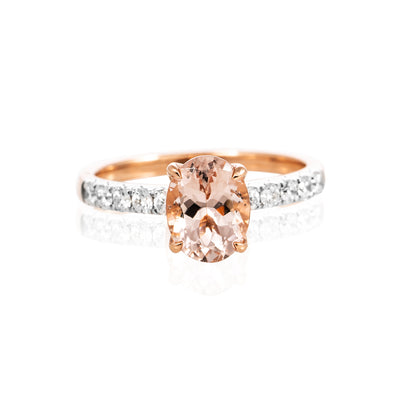 Verve 18K Morganite Diamond Ring