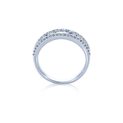 Verve 18K Diamond Dress Ring - Wedding Band