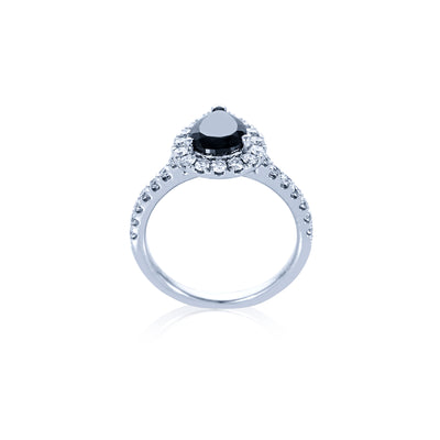 Verve 18K Dress Ring-Engagement Ring Pear Shape
