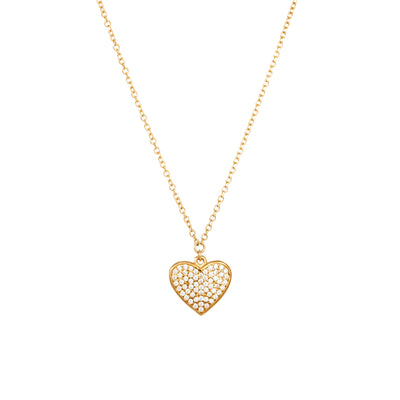 Verve heart pendant necklace with cubic zirconium