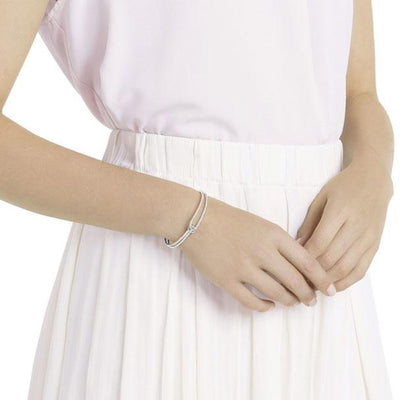 SWAROVSKI LIFELONG BANGLE, WHITE, RHODIUM PLATING
