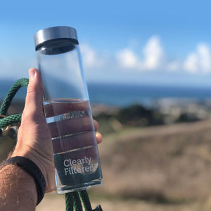 Clearly Filtered Glass Water Bottle