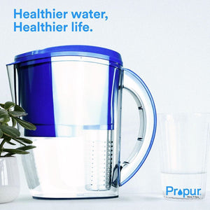 Propur Water Pitcher - With Optional Fruit Infusion Chamber.  Removes 97.5% Fluoride!
