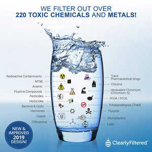 Removes 232 Contaminants Including Fluoride! Ultimate Clearly Filtered Pitcher